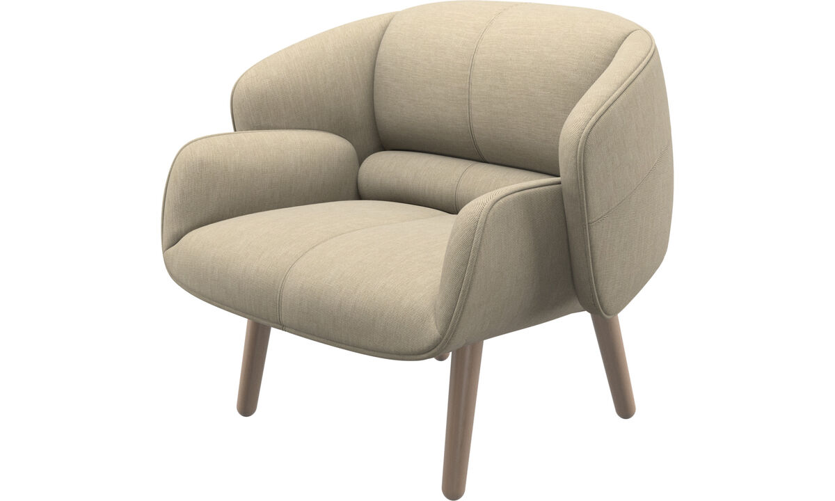 Armchairs - fusion chair - Brown - Fabric