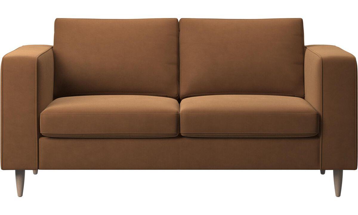 2 seater sofas - Indivi divano - Marrone - Pelle