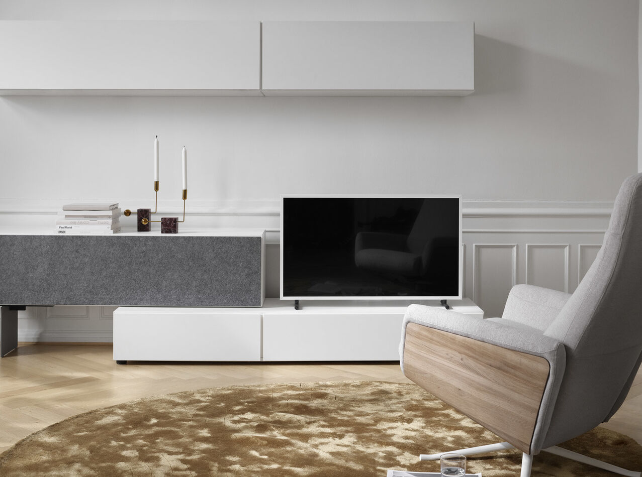 Tv units - Lugano wall mounted cabinet with drop down door