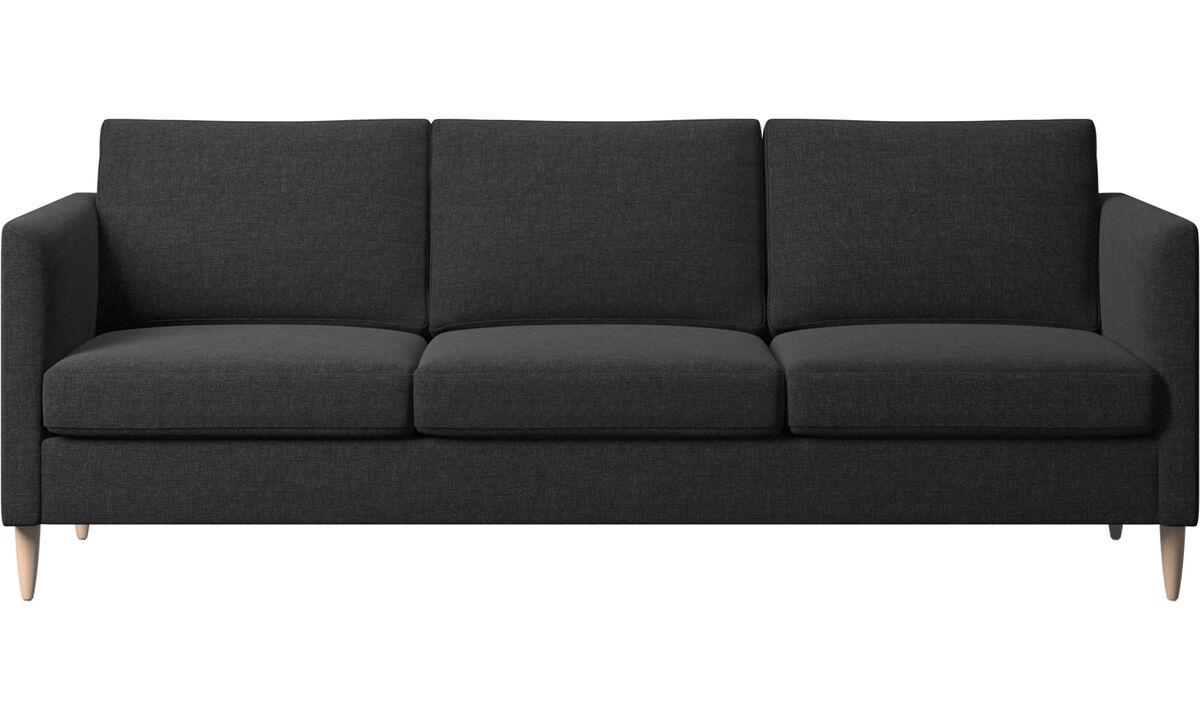 3 seater sofas - Indivi divano - Nero - Tessuto