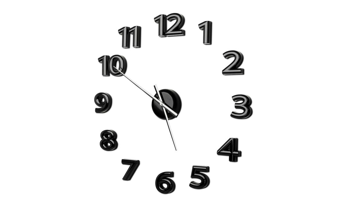 Clocks - Mega wall clock - Black - Plastic