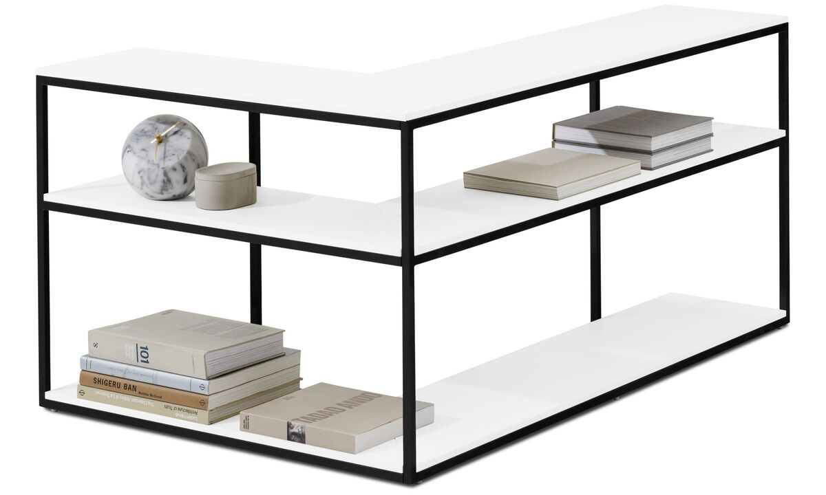 Wall systems - Bordeaux console table - square - White - Lacquered
