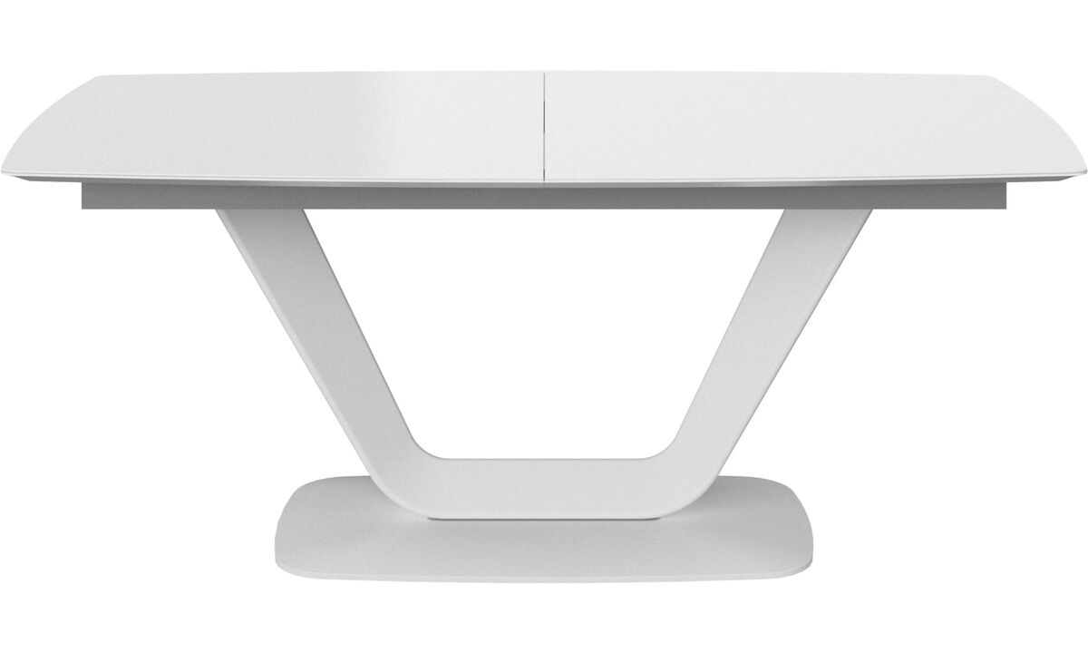 Dining tables - Alicante table with supplementary tabletop - rectangular - White - Glass