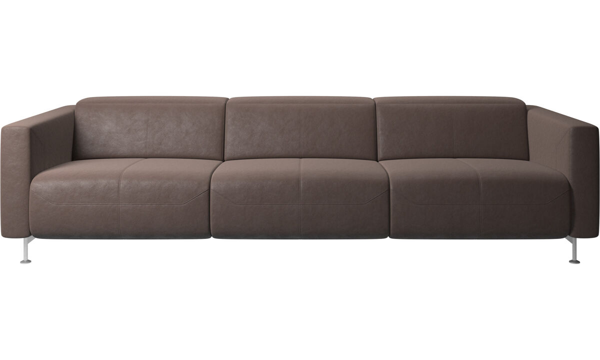 Sofás reclináveis - sofa reclinável Parma - Castanho - Pele