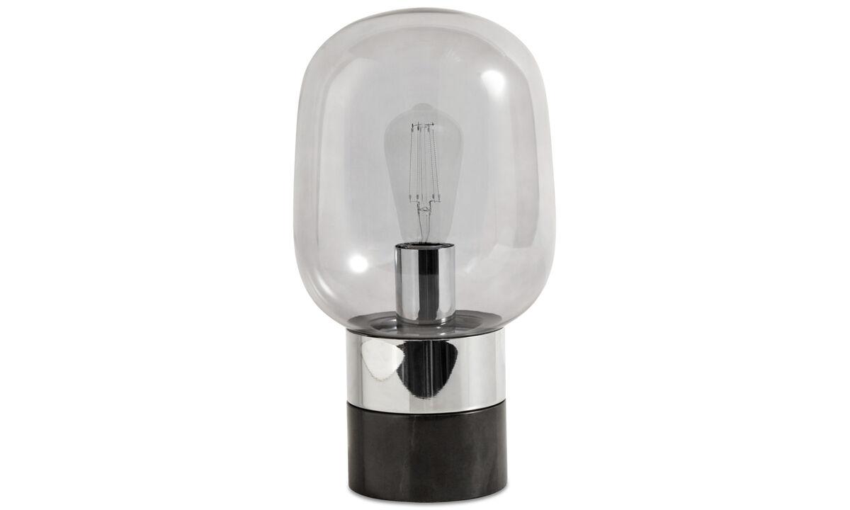 Lampes de table - Lampe de table Stockholm - Noir - Verre