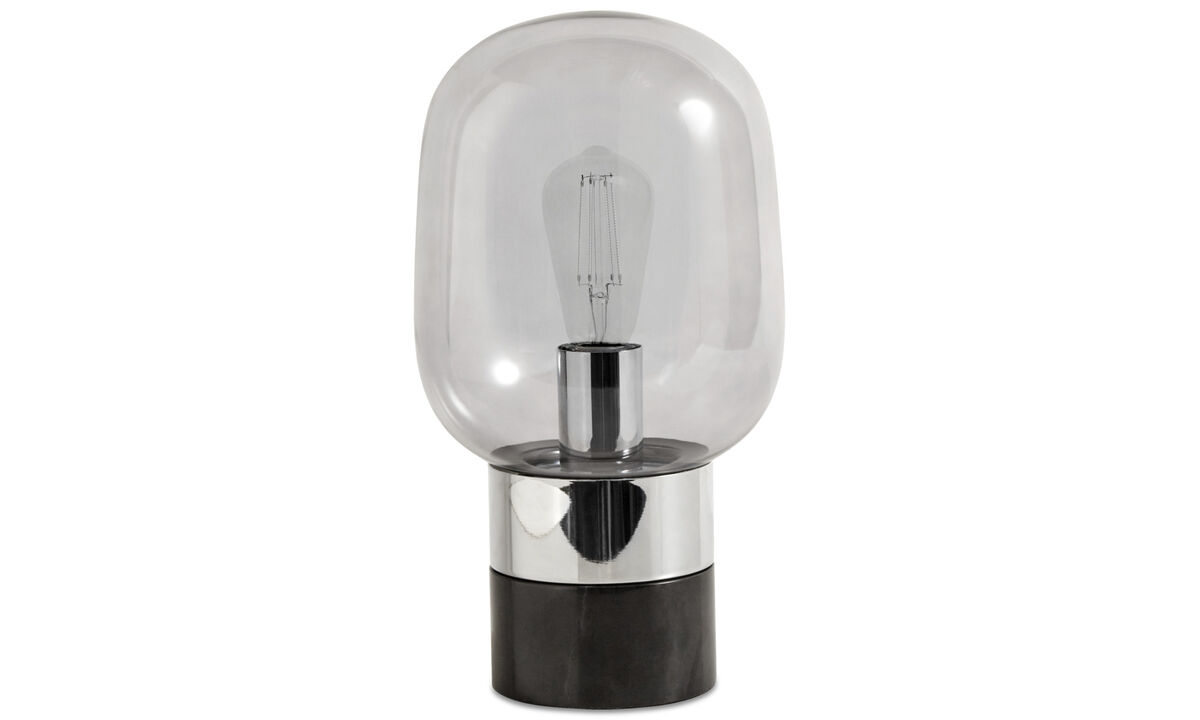 Bordlamper - Stockholm bordlampe - Sort - Glas