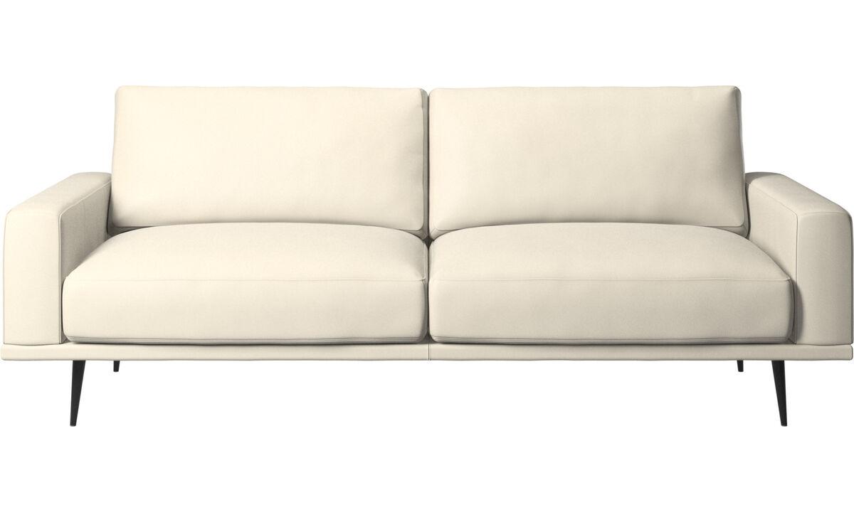 2.5 seater sofas - Carlton sofa - White - Leather