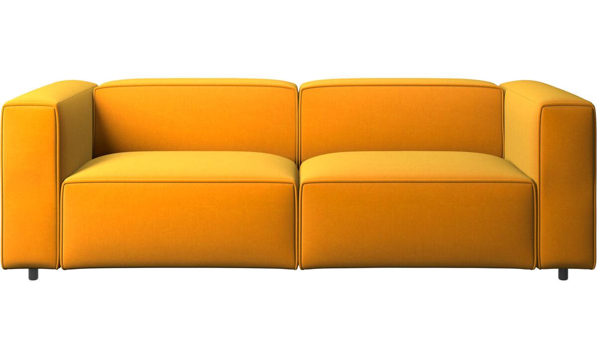 Sofás de 2 plazas y media - sofá Carmo - Naranja - Tela
