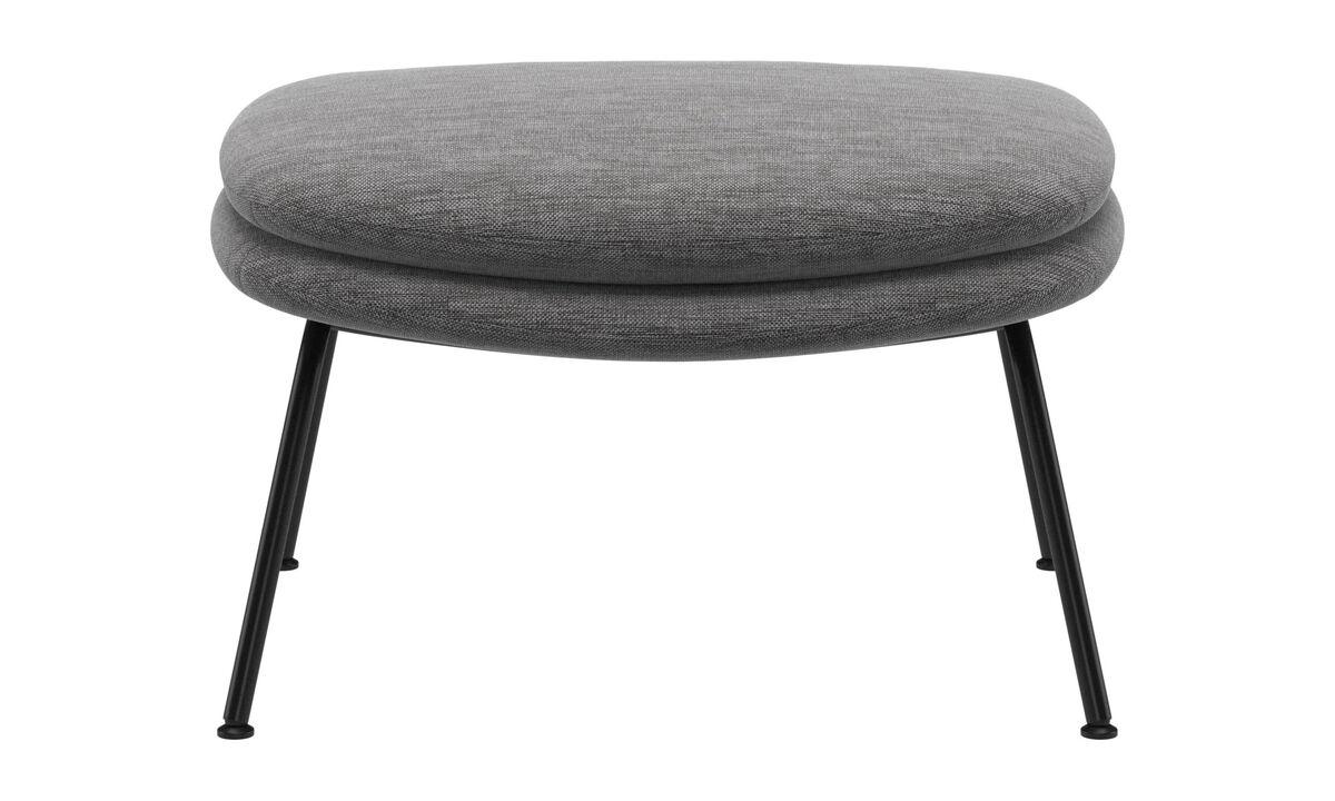 Footstools - Dublin footstool - Grey - Fabric