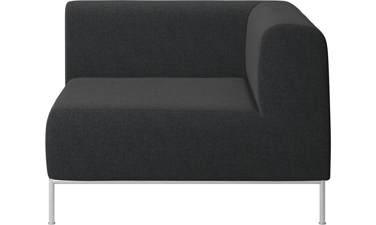Modular sofas - Miami corner unit right side - Gray - Fabric
