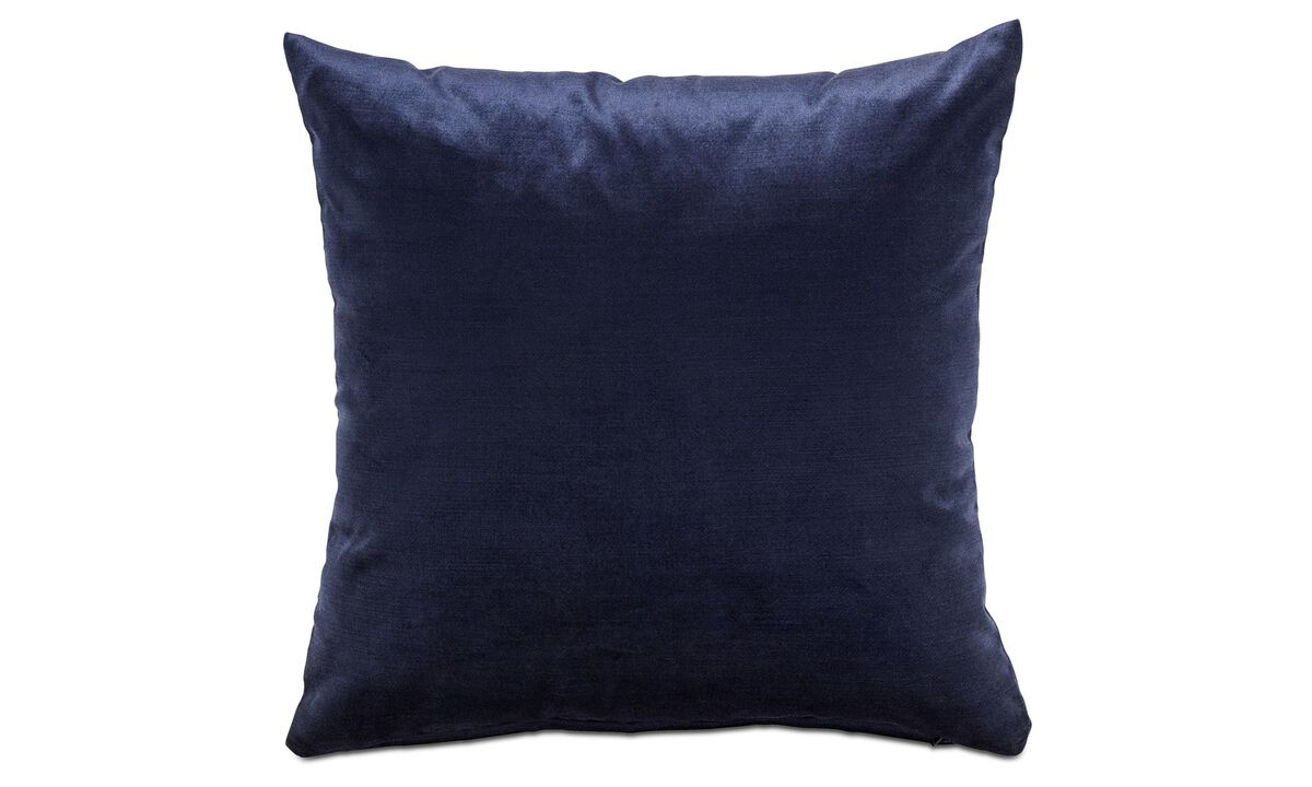 Velvet cushions - Velvet cushion - Blue - Fabric