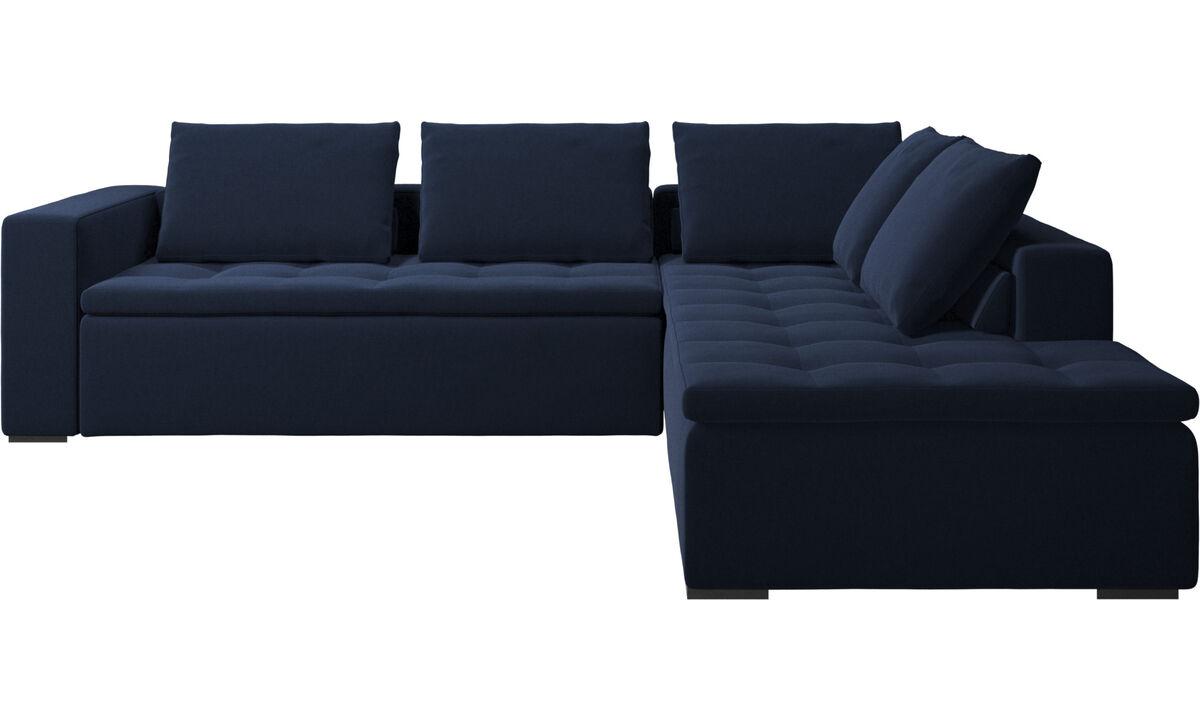 Sofas with open end - Mezzo divano ad angolo con modulo relax - Blu - Tessuto