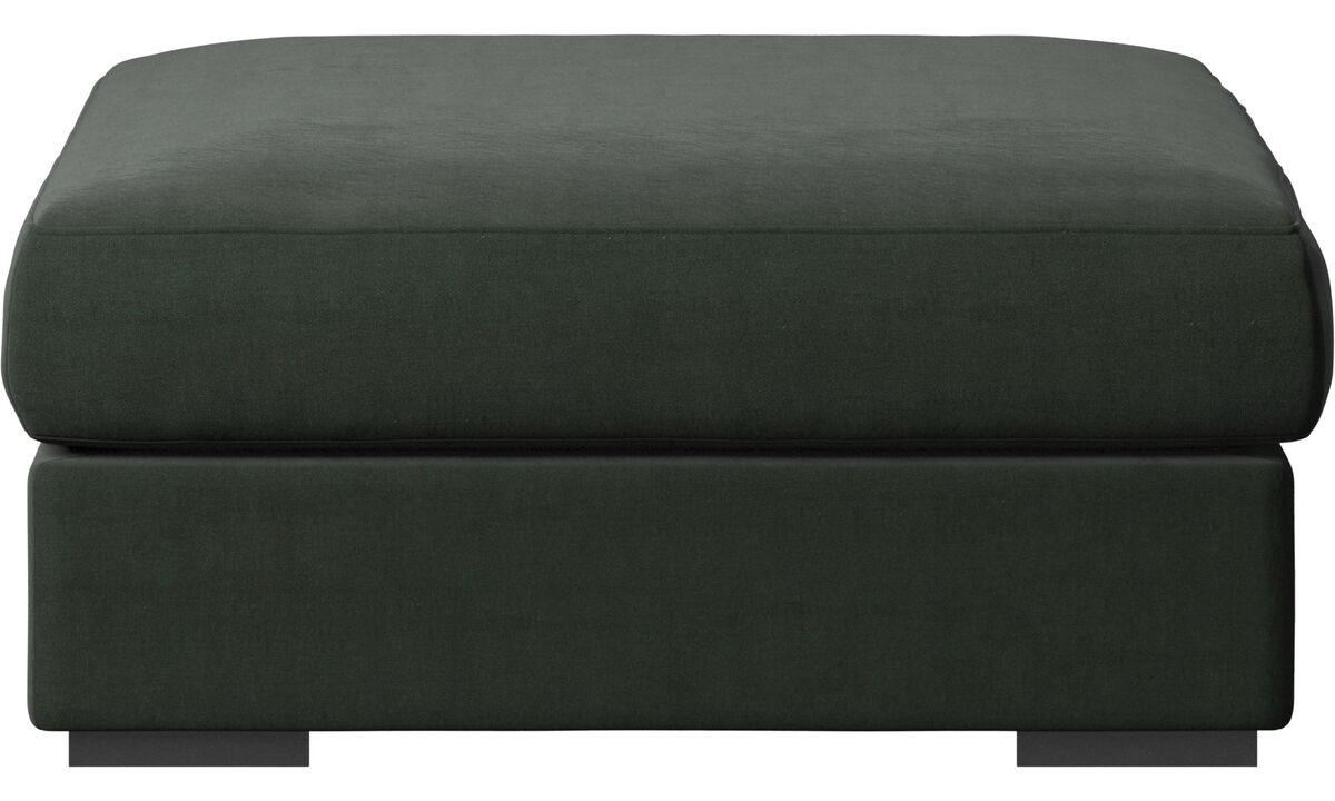 Footstools - Cenova footstool - Green - Fabric