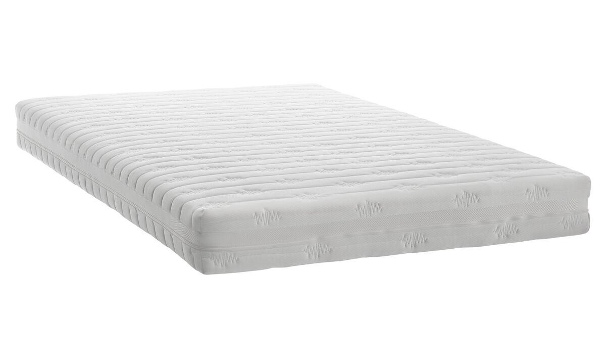 Colchón de muelles ensacados - Blanco - Tela