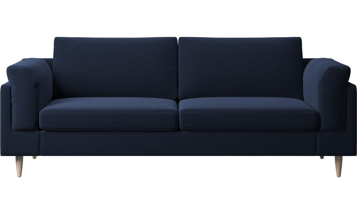 2.5 seater sofas - Indivi 2 sofa - Blue - Fabric
