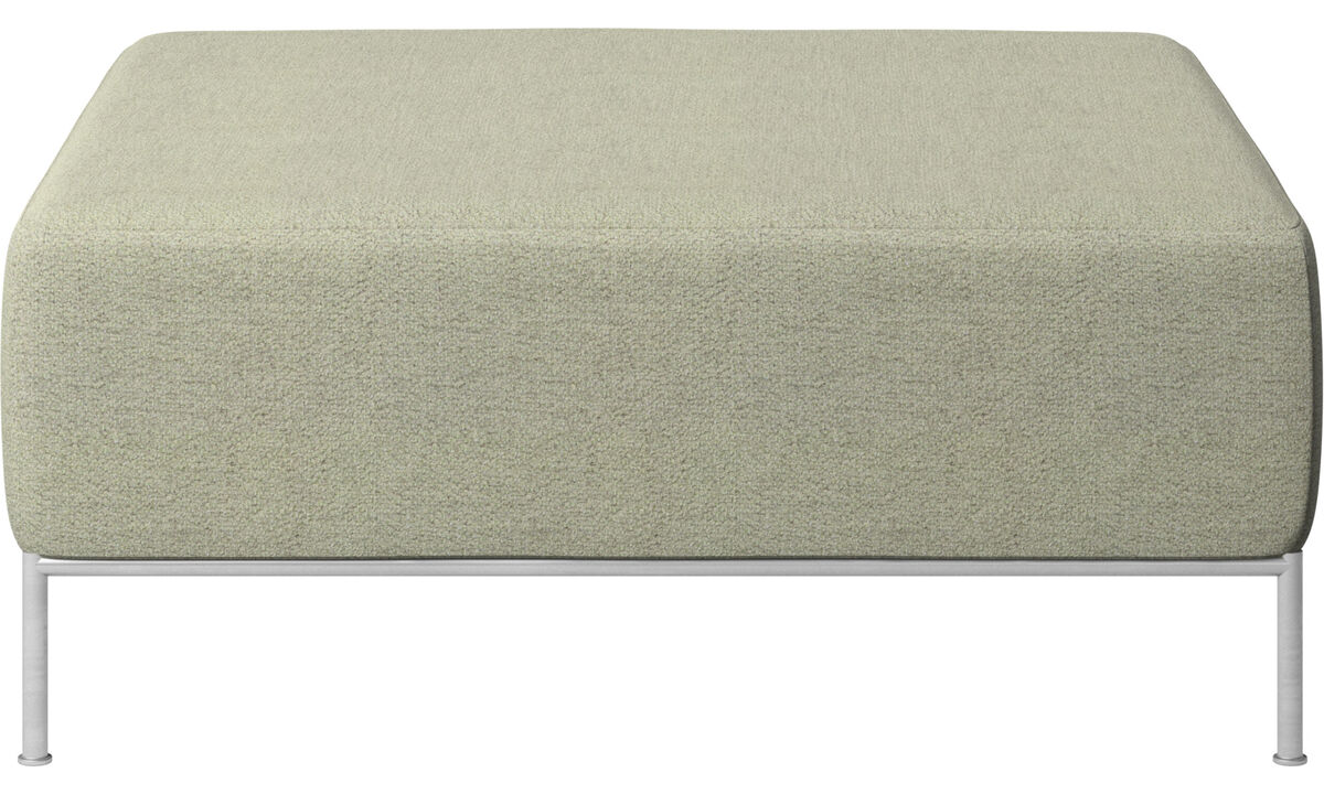 Modular sofas - Miami footstool - Green - Fabric