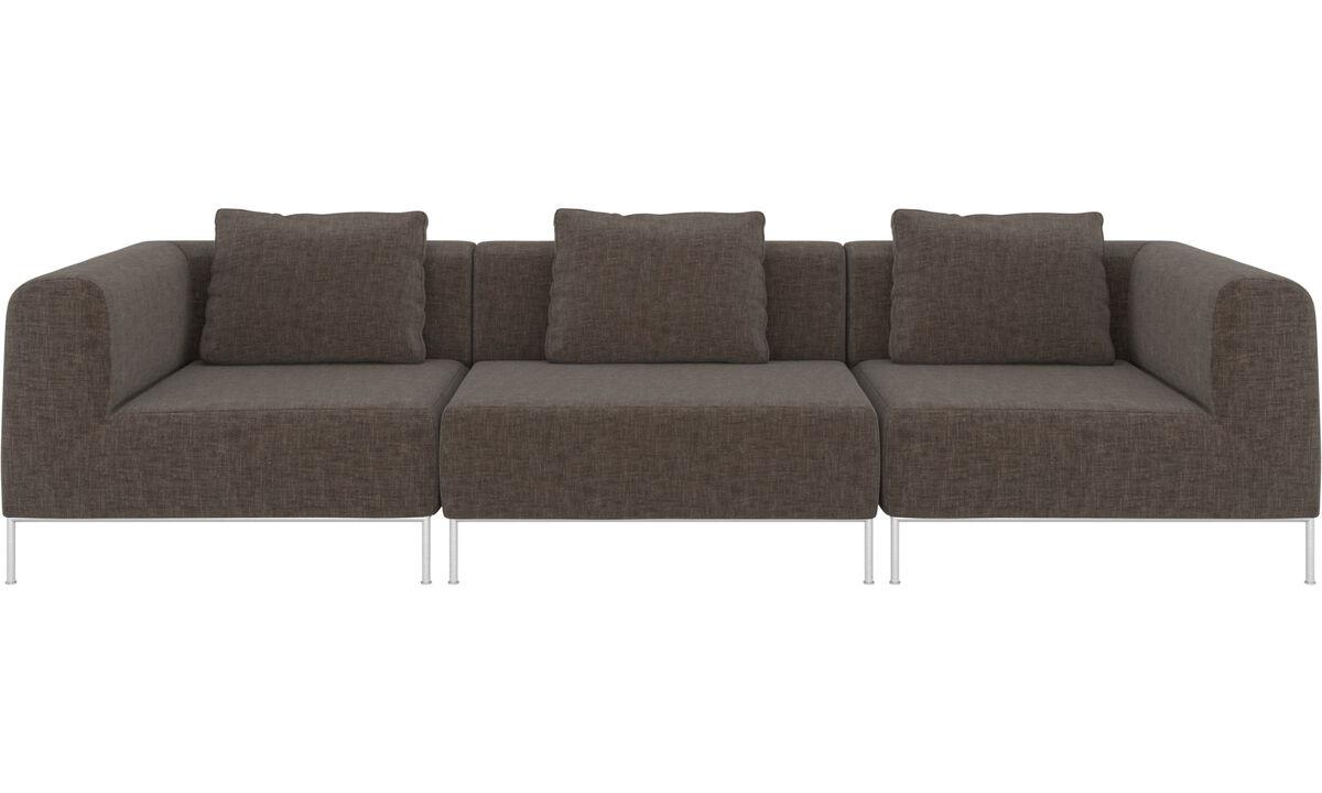3 personers sofaer - Miami sofa - Grå - Stof