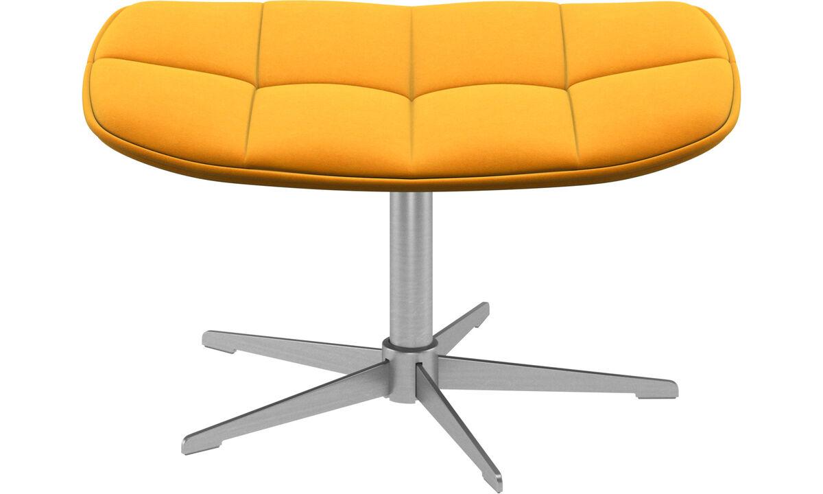 Footstools - Boston footstool - Orange - Fabric