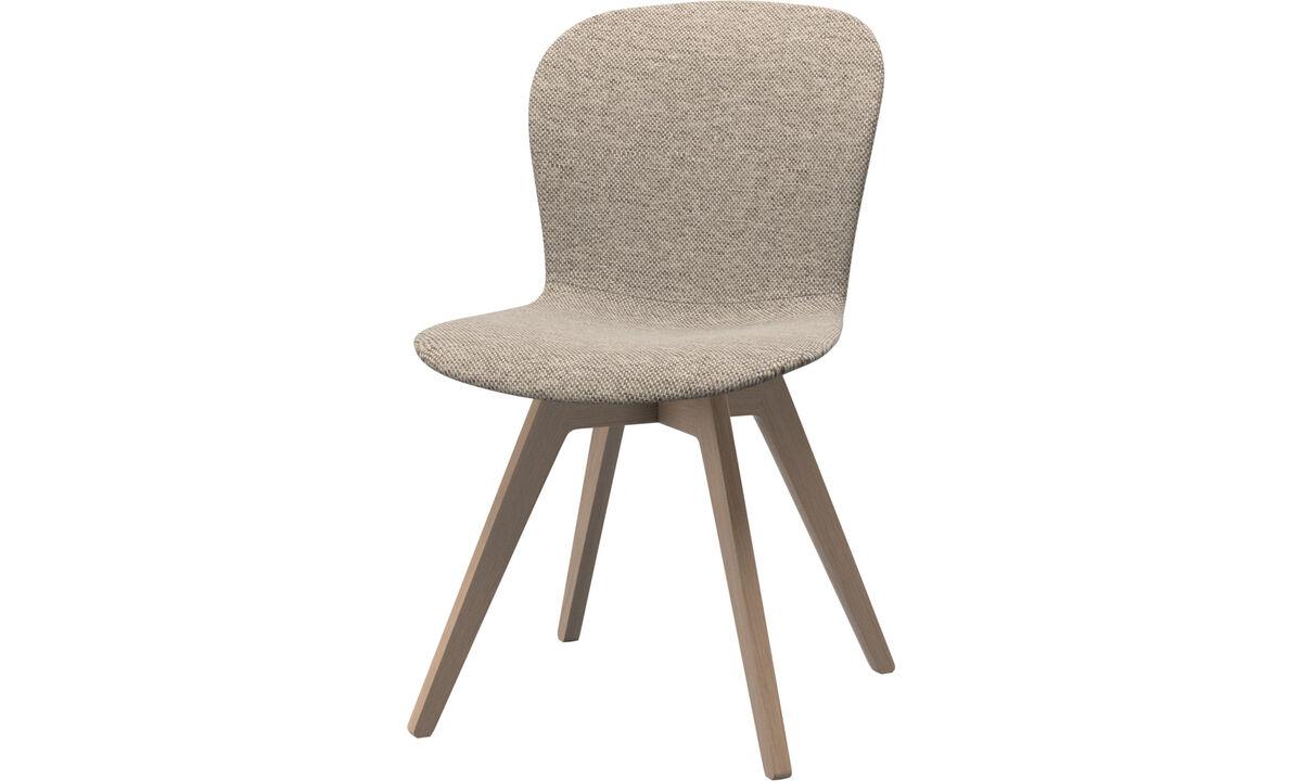 Krzesła do jadalni - Krzesło Adelaide - Beżowy - Tkanina