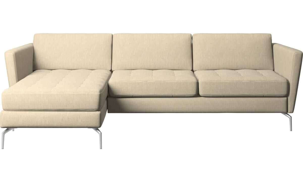 Sofas - Osaka sofa with resting unit, tufted seat - Brown - Fabric