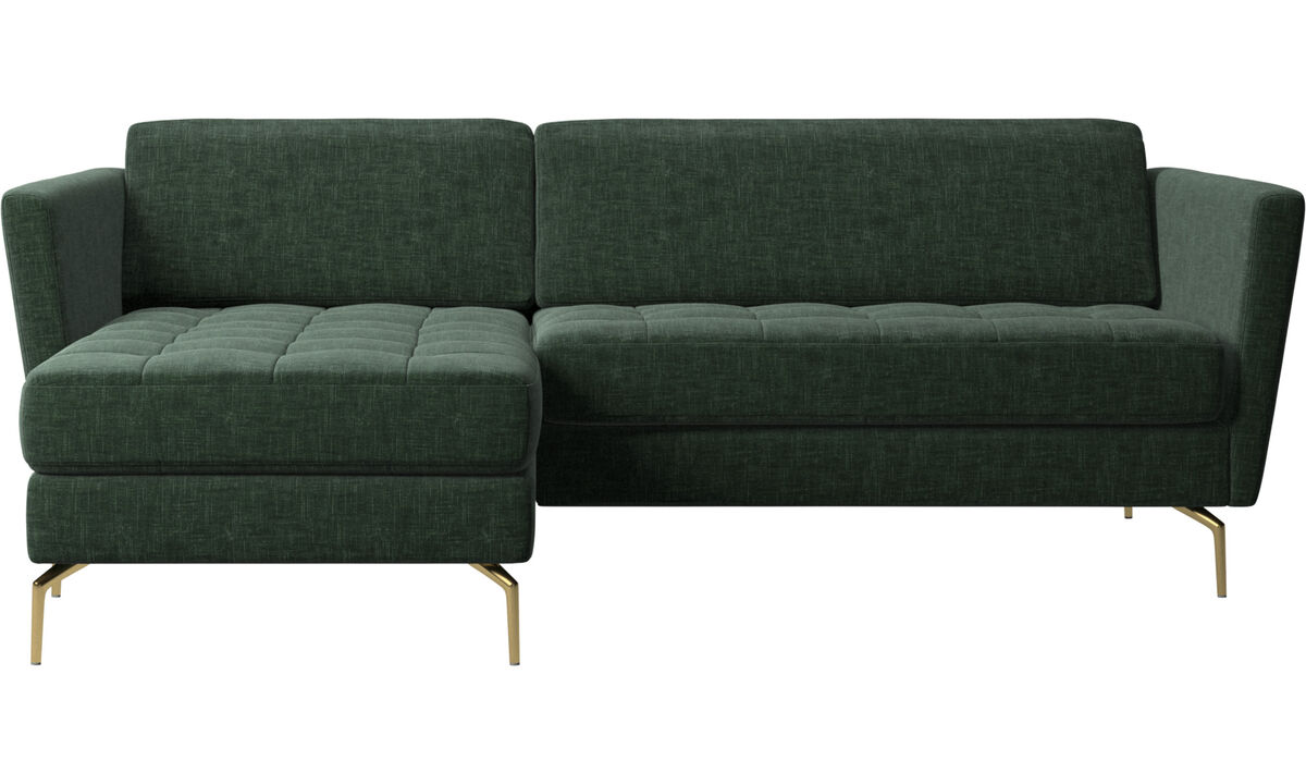 Osaka sofa with resting unit, tufted seat - Green - Fabric