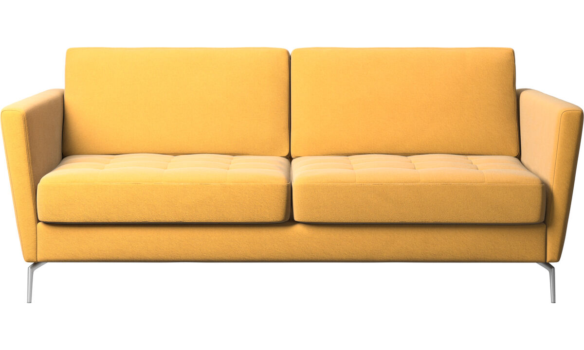 Sofa beds - Osaka sofa bed, tufted seat - Yellow - Fabric