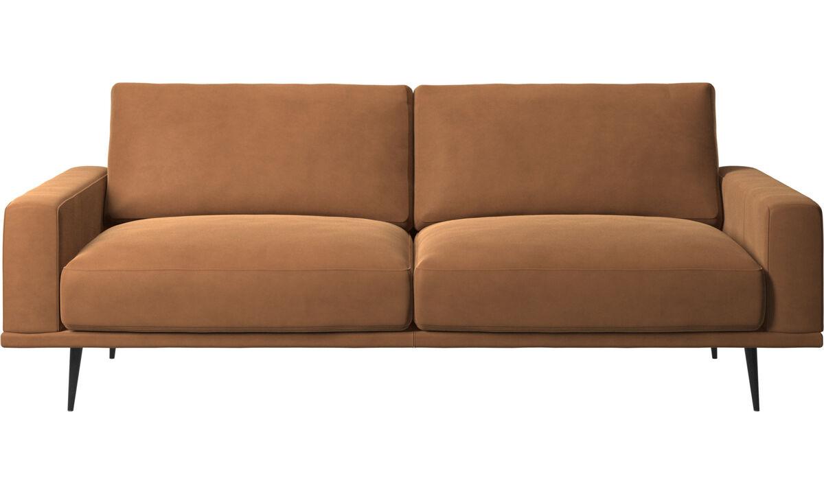 Canapés 2 places et demi - canapé Carlton - Marron - Cuir