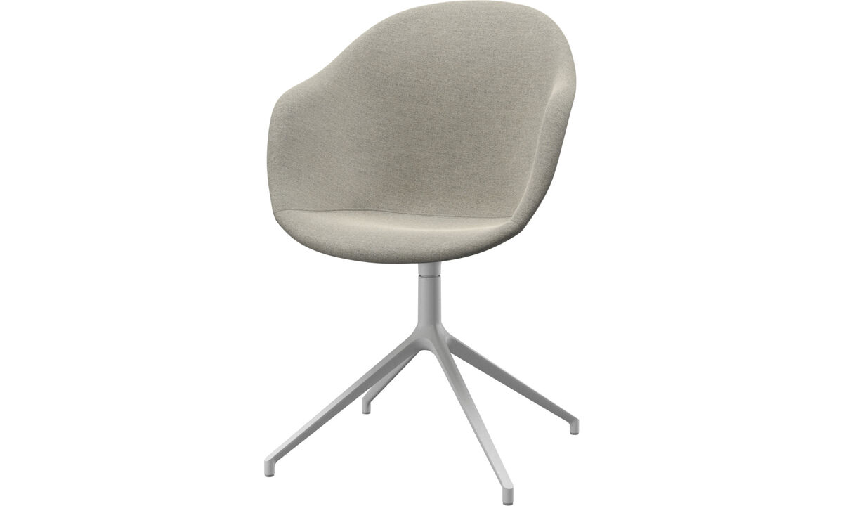 Dining Chairs Singapore - Adelaide chair with swivel function - Beige - Fabric