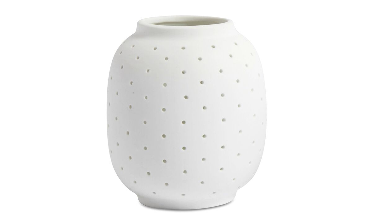 New designs - Polka Dots tealight holder - White - Ceramic