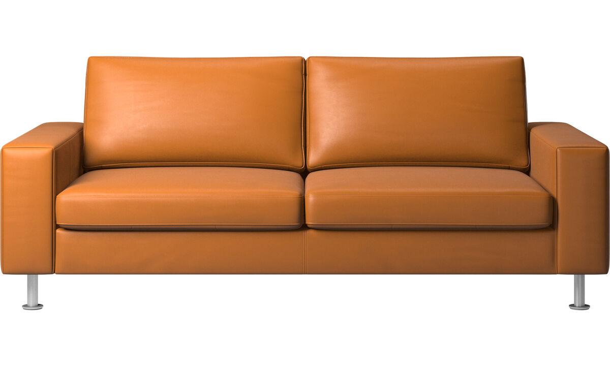 Sofá cama - sofá-cama Indivi - Castanho - Pele
