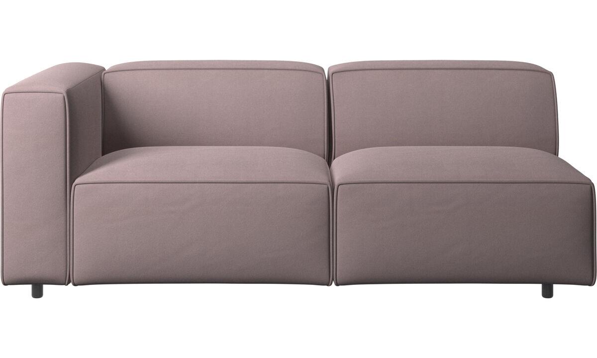 Sofás de 2 plazas y media - sofá Carmo - Morado - Tela
