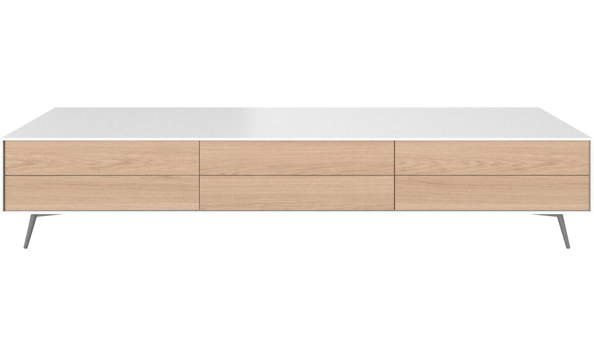 Tv units - Fermo media unit - White - Lacquered