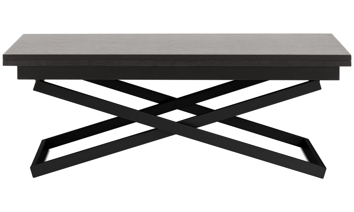 Coffee tables - Rubi adjustable table - rectangular - Black - Oak