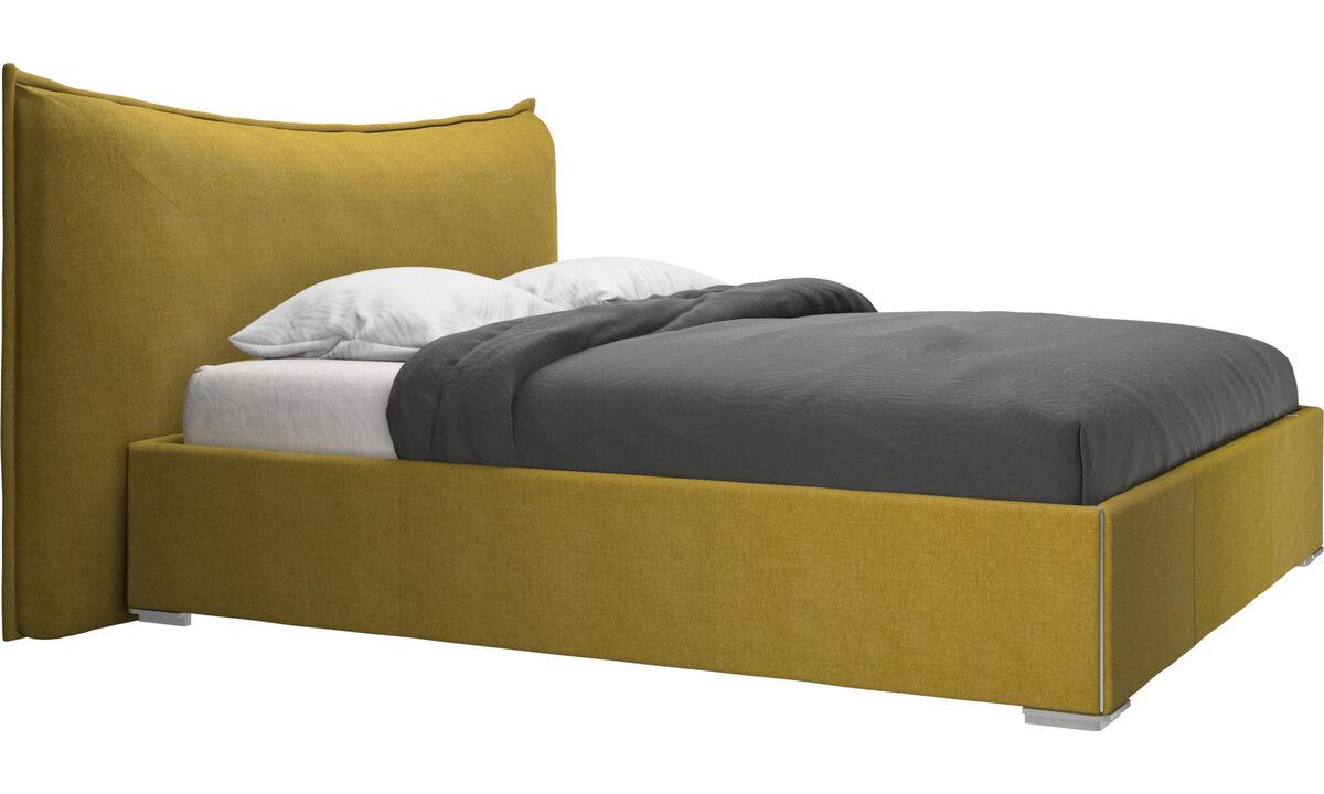 Nuevas camas - Cama Gent, no incluye colchón - En amarillo - Tela