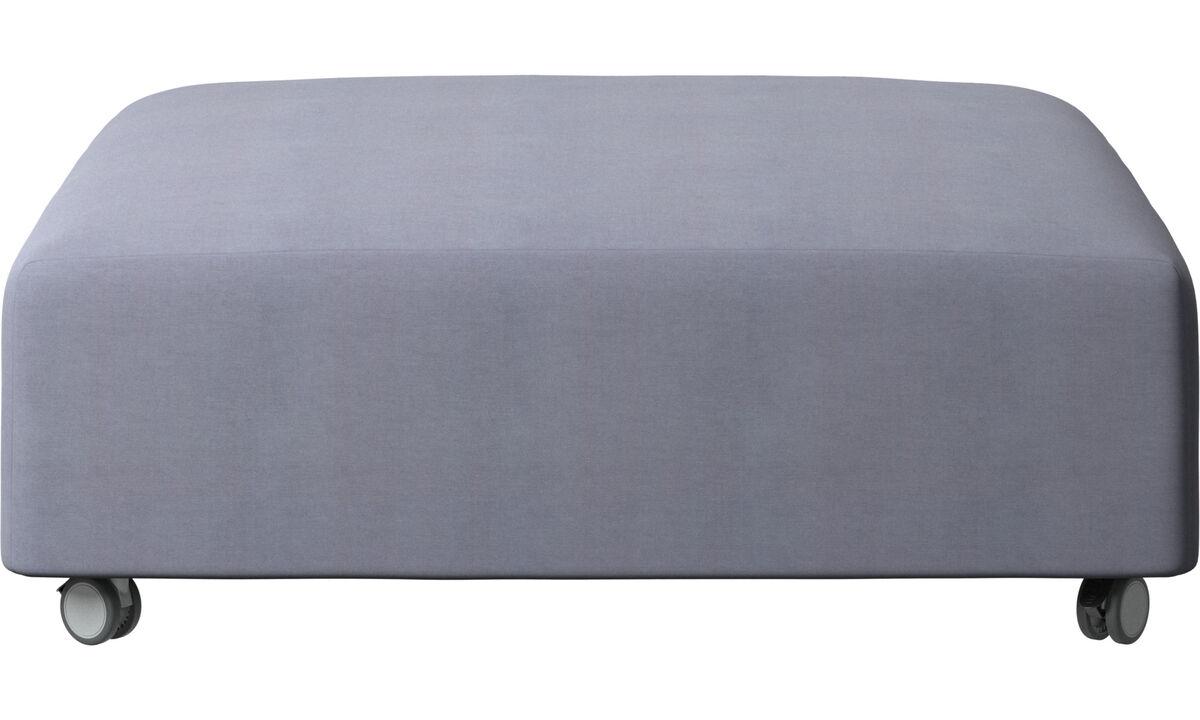 软垫凳 - Hampton 坐墩带滚轮 - 蓝色 - 布艺