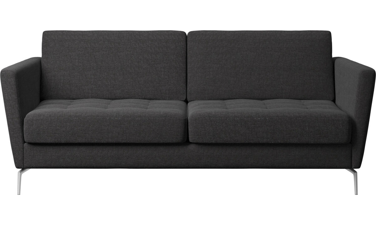 Sofa beds - Osaka sofa with sleeper function, tufted seat - Black - Fabric