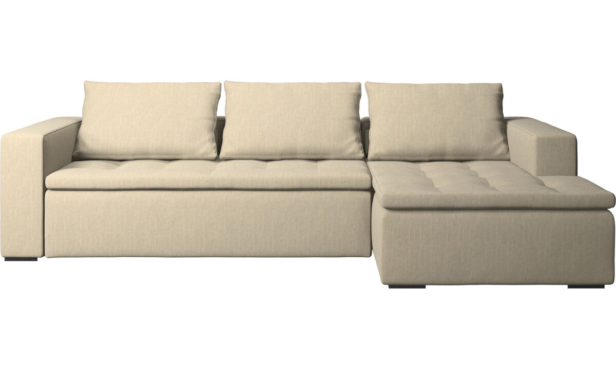 Chaise lounge sofas - Mezzo sofa with resting unit - Brown - Fabric