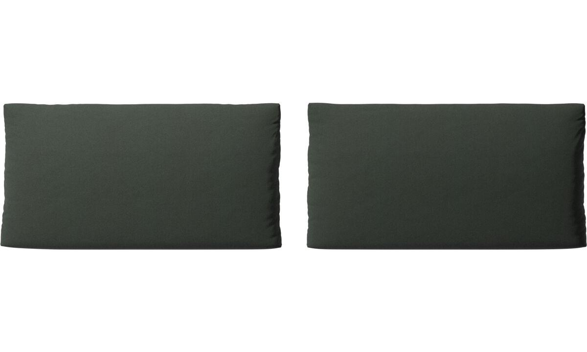 Accesorios para muebles - cojines de sofá Nantes - En verde - Tela