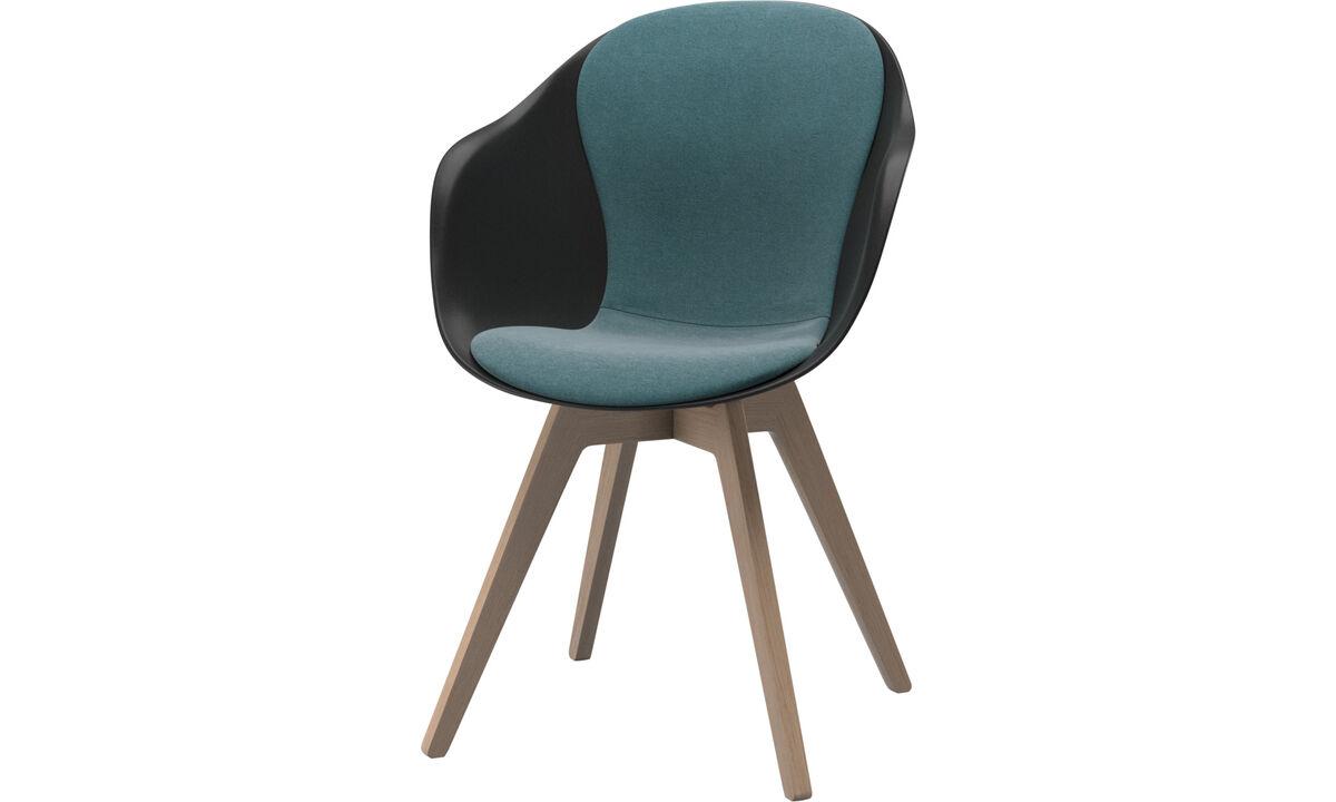 Καρέκλες τραπεζαρίας - Καρέκλα Adelaide - Μπλε - Ύφασμα