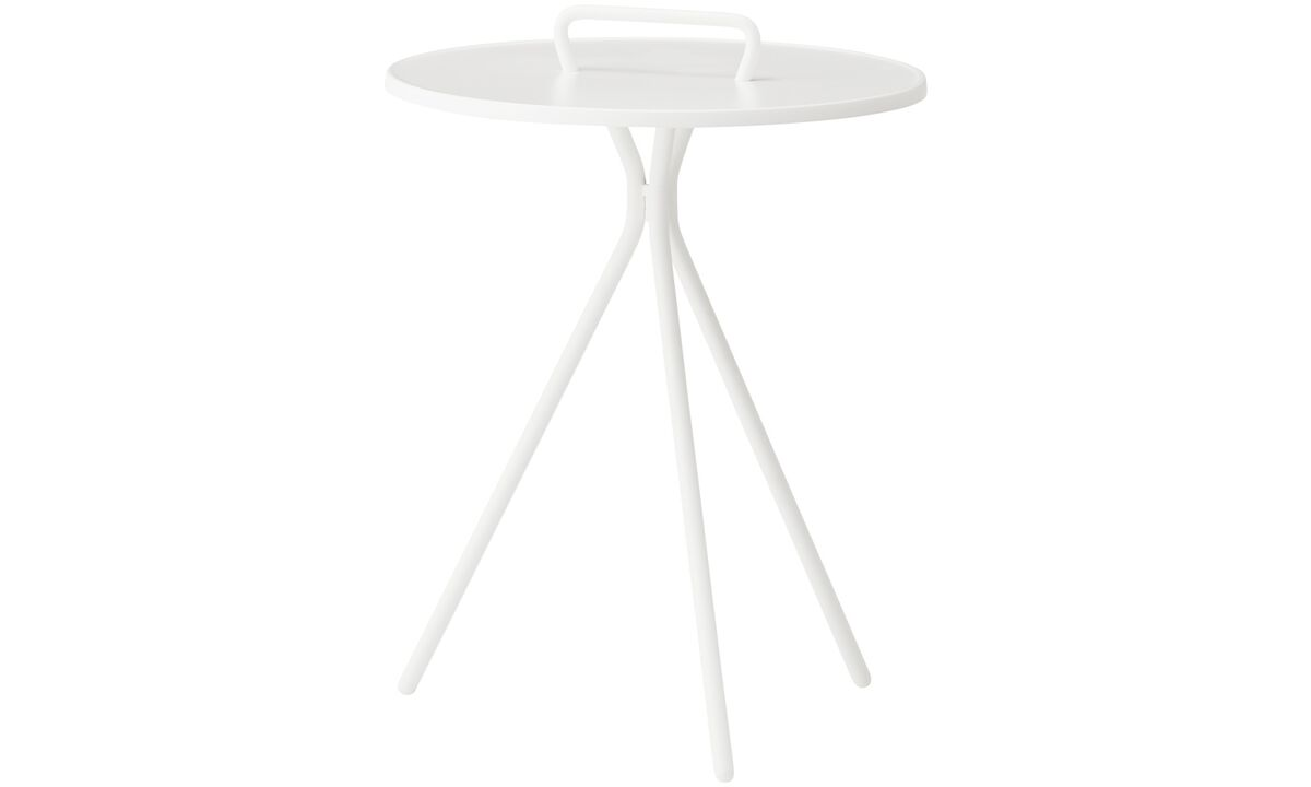 Coffee tables - Jersey side table (for in- and outdoor use) - round - White - Lacquered