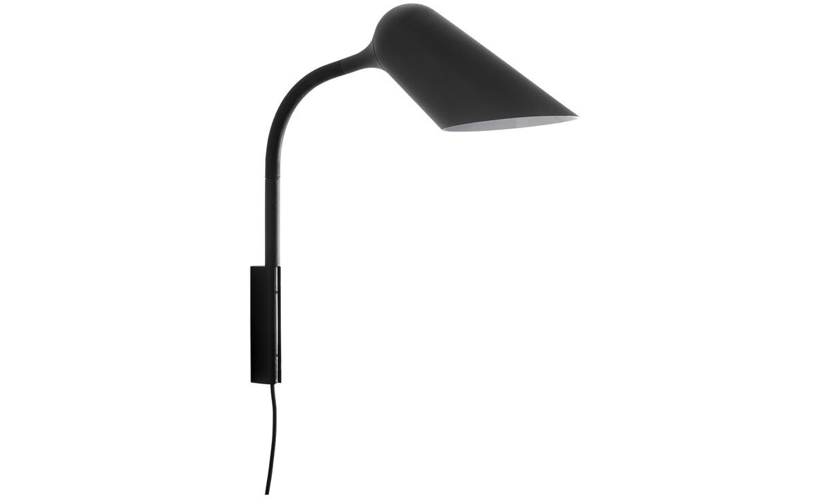 Wall lamps - Curious wall lamp - Black - Metal