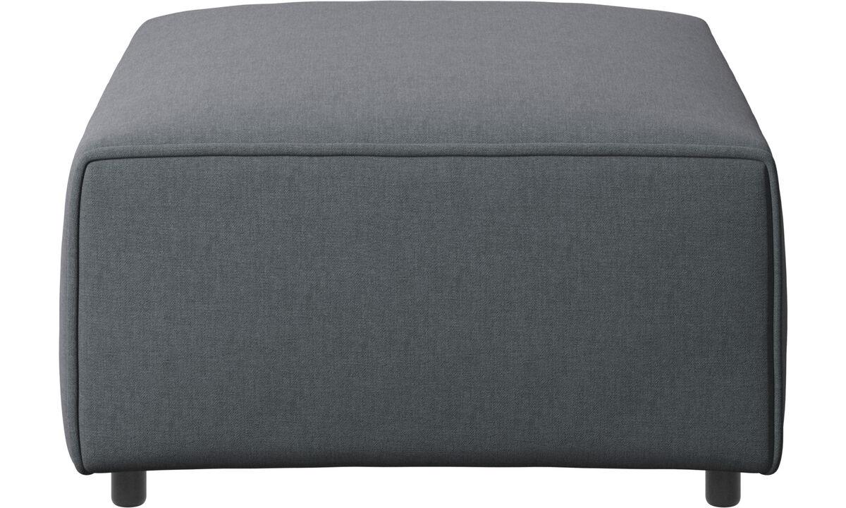 Модульные диваны - Пуф Carmo - Серого цвета - Tкань
