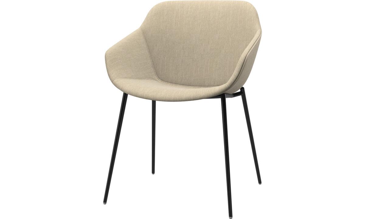 Krzesła do jadalni - Fotel Vienna - Brązowy - Tkanina