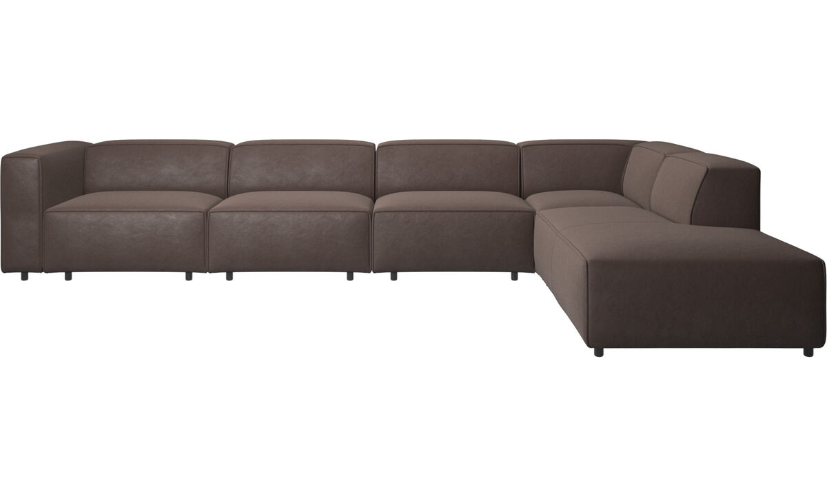Corner sofas - Carmo motion corner sofa - Brown - Leather