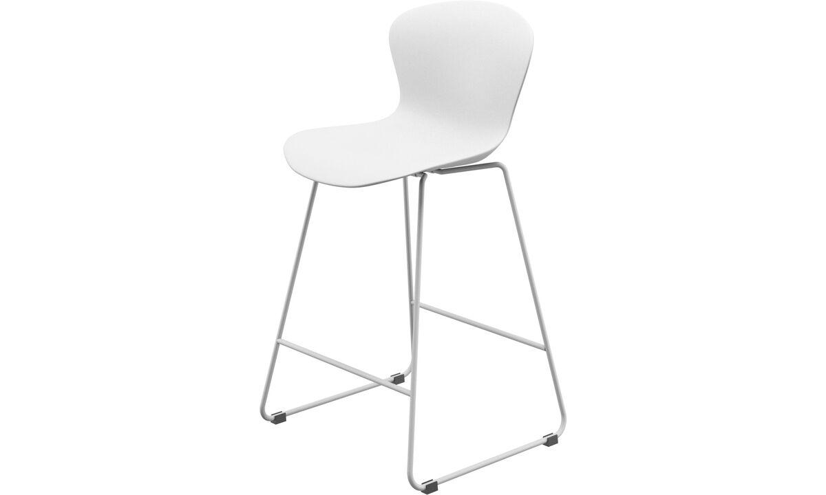 Барные стулья - барный стул Adelaide - Белый - Пластик