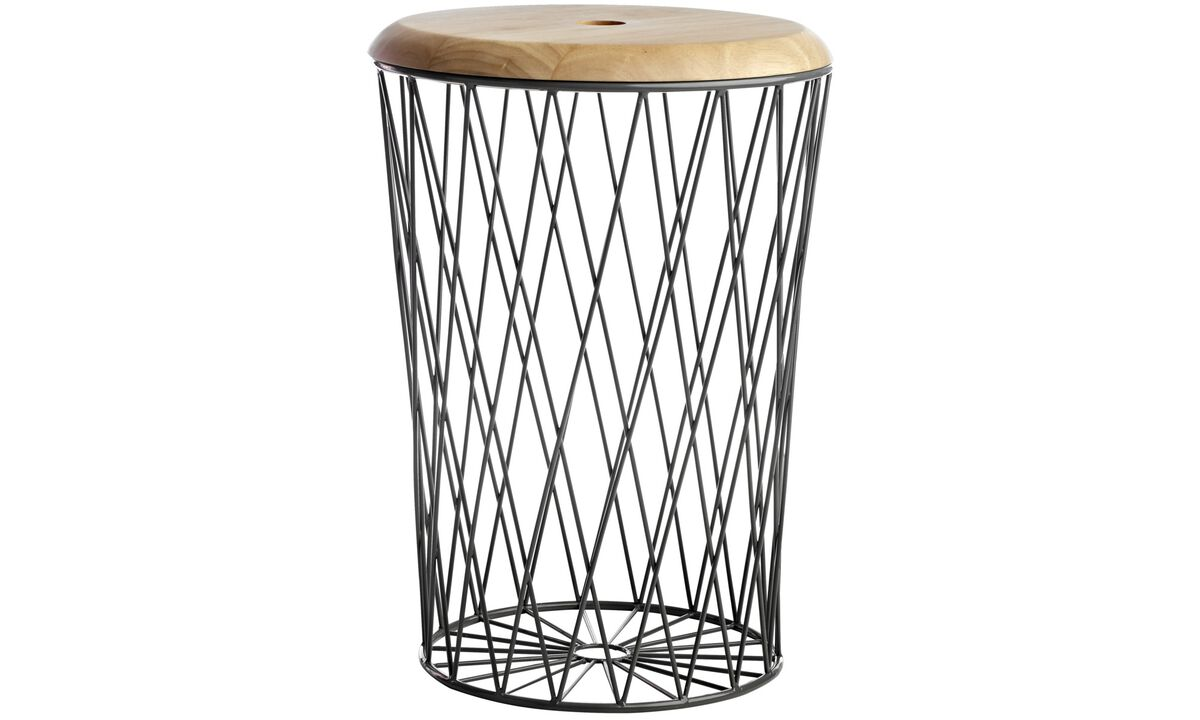 Hocker - Lid Hocker - Grau - Metall
