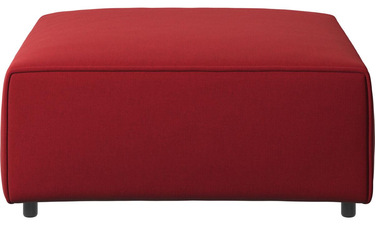 Modulære sofaer - Carmo puf - Rød - Stof