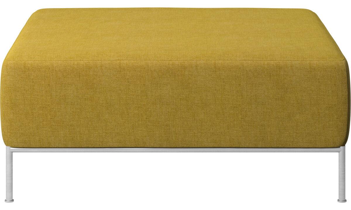 Modular sofas - Miami footstool - Yellow - Fabric