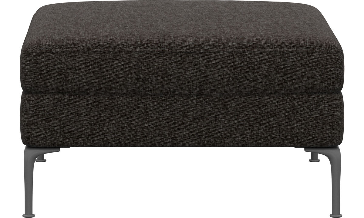 Footstools - puf Marseille - Brown - Fabric