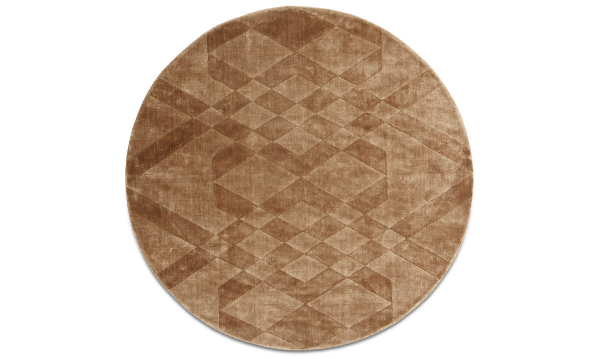 Round rugs - Tangle rug - round - Brown - Viscose